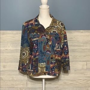 Lightweight paisley and floral print jacket